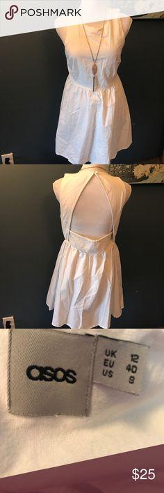 """ASOS cotton Mini dress 💋 Open Diamond Back 33"""" long. Open back No flaws ASOS Dresses Mini"""