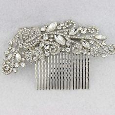 2015 New Design Flower Rhinestone Bridal Hair Comb Clip Pin Pieces Wedding Austrian Crystal Flora Accessories Jewelry Bride Headpiece