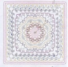 Patterns and motifs: Crocheted motif no. 956 - Marion Rupprecht - Patterns and motifs: Crocheted motif no. 956 Patterns and motifs: Crocheted motif no. Motif Mandala Crochet, Crochet Mandala Pattern, Crochet Motifs, Crochet Blocks, Granny Square Crochet Pattern, Crochet Diagram, Crochet Stitches Patterns, Crochet Chart, Crochet Squares