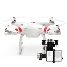 DJI Phantom 2 Quadcopter + Zenmuse H3-3D Gimbal | Digital Camera Warehouse How cool is that? $1478 Dji Phantom 2, Videography, Cinematography, Gopro, Digital Camera, Warehouse, 3d, Cool Stuff, Digital Cameras