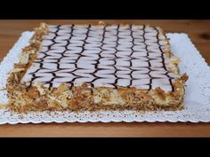 Romanian Desserts, Homemade Sweets, Napoleon, Dessert Recipes, Food And Drink, Make It Yourself, Camping, Cakes, Sweet
