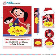 Convite Personalizado Show da Luna - Kit Luna, Júpiter e Cláudio