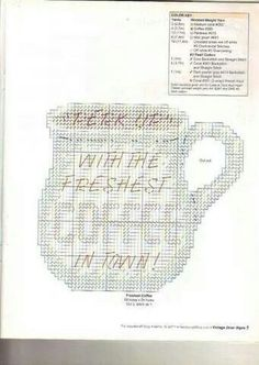 Diner Signs Plastic Canvas Stitches, Plastic Canvas Crafts, Plastic Canvas Patterns, Canvas 5, Canvas Signs, Diner Sign, Kitchen Canvas, Tissue Box Covers, Crafts To Make