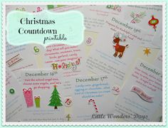 christmas activities for kids (printable)
