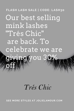 Send us a pic in your lashes & 80% off your next order!