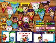 Hello Neighbor! Have a GRR-ific Party with this Daniel Tigers Neighborhood Party Kit! Create a Daniel Tiger themed party for any occasion--birthday