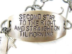 Second Star to the Right Hand Stamped quote by CobwebCorner, $25.95
