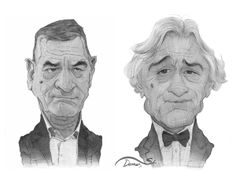Caricature Sketches by Stavros Damos, via Behance