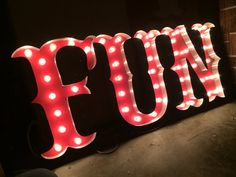 Marquee Letters - Circus Font