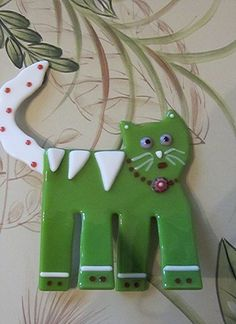 Fused Glass Cat * Stand Up Kitty Figurine * Made to Order | Imagine-It-In-Glass - Pets on ArtFire