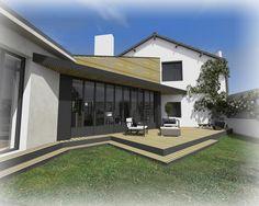 Rénovation et extension d'une maison à Clisson, par ATELIER 14 Architecture, Mansions, House Styles, Outdoor Decor, Houses, France, Metal, Design, Inspiration