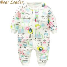 Baby RomperBaby Girls Clothes Long-sleeve Animal Printing Baby Jumpsuit Kids Clothing born suit