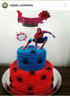 Spiderman Cake Ideas for Little Super Heroes - Novelty Birthday Cakes Spiderman Birthday Cake, Superman Birthday Party, Avengers Birthday, Superhero Cake, 5th Birthday, Birthday Ideas, Pastel Avengers, Avenger Cake, Novelty Birthday Cakes