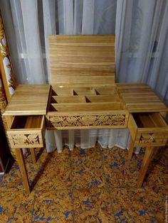 Мебель ручной работы. Ярмарка Мастеров - ручная работа. Купить Столик косметический Розы. Handmade. Комбинированный, массив ясеня