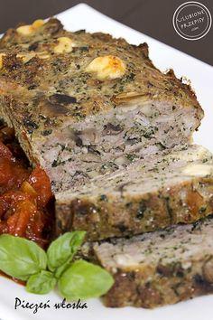 Pyszna Pieczeń we włoskim stylu z mięsa mielonego z dodatkiem wina, pieczarek, szpinaku, parmezanu...... Polecam :)) http://ulubioneprzepisy.com/2014/05/07/pieczen-wloska/ #kuchniawloska #miesomielone #obiad