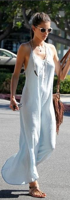 ☮ Bohemian Style ☮ Alessandra Ambrosio