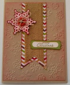 Crumb Cake Christmas ~ Terry Duncan,  Card is made with Crumb Cake Card Stock, Burlap Ribbon, and Festive Flurry Stamp Set. There is more information on my blog at http://www.classycutupscreations.com.