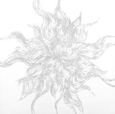 "draft, ink on clayboard, 30 x 30"", 2014"