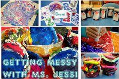 Dużo pomysłów, ale zdjecia widoczne tylko na podlinkowanych stronach  Getting Messy With Ms. Jessi