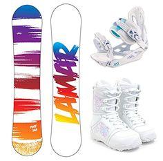 Lamar Pixie Women's Complete Snowboard Package Bindings Boots - Board Size 141
