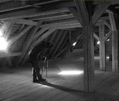 #Photographer making #Black #White #picture from #medieval #barn of Schloss Möhren   Vakantie in een kasteel   Schloss Moehren   Schloss Mohren   Beieren   Duitsland   Castle   Bavaria   Germany