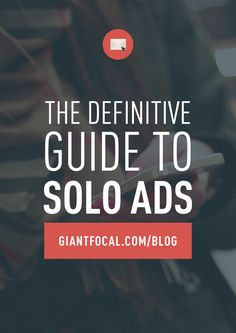 What are solo ads? But just like any kind of marketing channels, they come with risks. What are they and how to avoid? Click the image above.