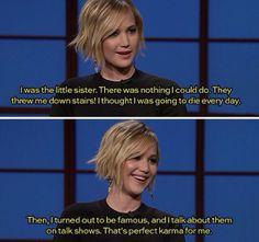 Jennifer Lawrence at it again.