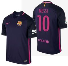 NIKE LIONEL MESSI FC BARCELONA AWAY JERSEY 2016 17. Mesh Fabric 771a9042e