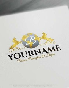 Ready made Online Unicorn Globe Logo template combined alphabet letters. Customize this Unicorn logo with our free logo creator tool. Create A Logo Free, Create A Business Logo, Letter Logo Maker, Monogram Maker, Free Logo Creator, Online Logo Creator, Alphabet Logo, Alphabet Letters, Unicorn Logo