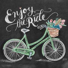 ENJOY! (Chalkboard Art by Valerie McKeehan)