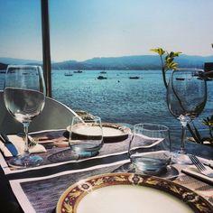 Before lunch at Alvariñas restaurant in Combarro, Rias Baixas, Galicia, Spain.