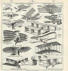 Flying machines, Larousse pour tous, c. 1910