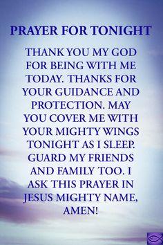 Good Night Prayer, Good Night Blessings, Prayer For Today, Good Night Quotes, Simple Prayers, Short Prayers, Prayers For Healing, Goodnight Quotes Inspirational, Inspirational Prayers
