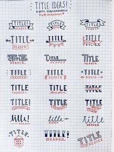From Drab To Fab With Bullet Journal Headers Never have a boring title again! Different fonts and design ideas to make your headers stand out in your bullet journal or planner!