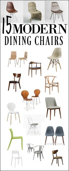 MODERN DINING CHAIRS These are so cool and stylish looking modern chairs! Check them out!