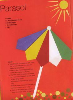 parasol voorbeeld Diy Paper, Paper Crafts, Creative Crafts, Origami, Carton Box, Paper Craft Work, Origami Paper, Origami Art, Paper Crafting