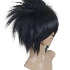 Free Shipping Including Hair Cap Naruto Uchiha Sasuke Black Short Cos Cosplay Wig Hallowmas