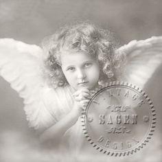 Grå ängel - Middagsservett