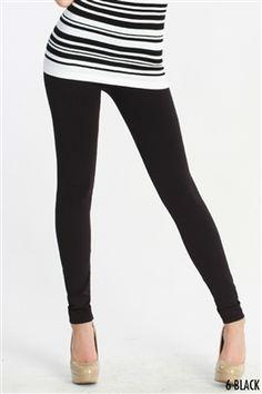Nikibiki Solid Thick Leggings in Black - $16, free shipping/black leggings