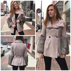 Jade Faux-Fur Jacket – Rebecca's of Clinton