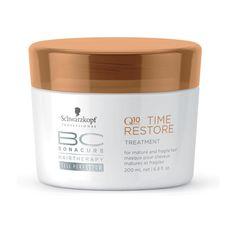 BC Bonacure Time Restore - Q10+ Kur - Die Q10+ Kur von BC Bonacure Time Restore rundet das Pflegeerlebnis perfekt ab. Sie verleiht zusätzlichen Glanz und Struktur. Weiter wird das Haar von innen heraus kräftiger. Technologie:  Durch das Co-Enzym Q10 wird die Haarwurzel stimuliert und dafür gesorgt, dass die Keratine reanimiert werden, die auf natürliche Weise im Laufe der Zeit im Körper sinken.  Die Amino Cell Rebuild Technologie sorgt dafür, dass die Nährstoffe direkt in die Haarzelle ...