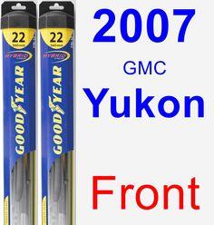 Front Wiper Blade Pack for 2007 GMC Yukon - Hybrid