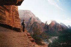 The beginning of our early morning hike up to Angels Landing at Zion.