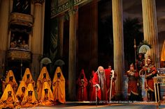 Richard Ollarsaba as High Priest of Baal and Company in the Minnesota Opera production of Nabucco.