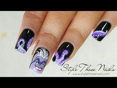Ursula Nails- Disney Villain Series - http://www.nailtech6.com/ursula-nails-disney-villain-series/