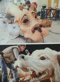 Falcor the luck dragon in the never ending story (bavaria studios backstage behind the scenes) Pet Sematary, Great Films, Good Movies, Neverending Story 3, Nostalgia, Fantasy Movies, Creature Design, Fantasy Creatures, Faeries