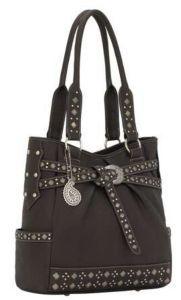 American West® Taos Collection™ Ladies Dark Chocolate Brown Belted Tote