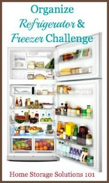 Organizing Refrigerator And Freezer Challenge: Step By Step Instructions {Part of the 52 Week Organized Home Challenge on Home Storage Solutions 101}