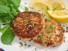 Flourless Crab Cakes #recipe: Sub in some healthy leeks instead of green onion to make this more Bulletproof #diet compatible!