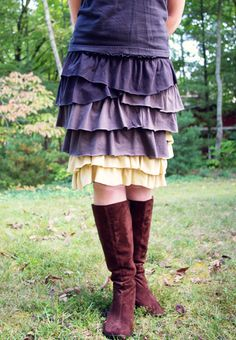 Skirt Made of recycled t-shirts -